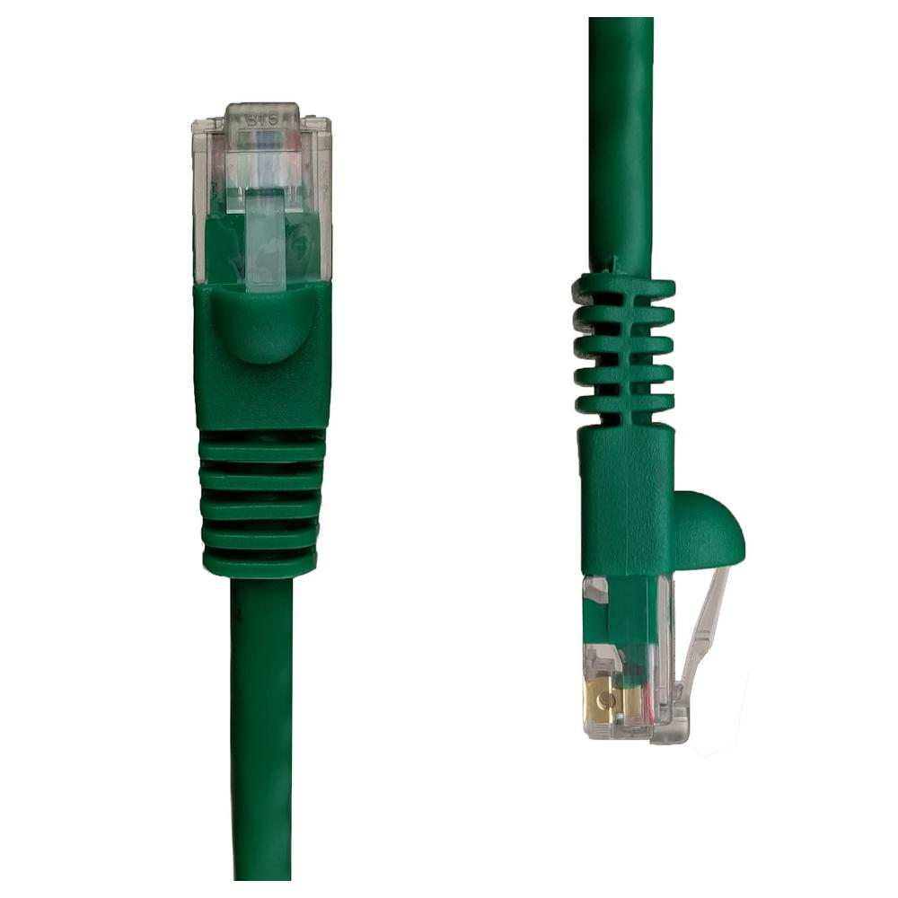 Ethernet Cables Networking The Home Depot Connector Wiring Diagram Further Rj45 Utp Cable In Addition Cat5e Snagless Unshielded Network Patch Green