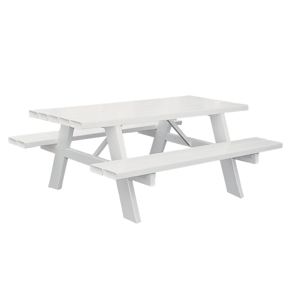 Vinyl Outdoor Picnic Table