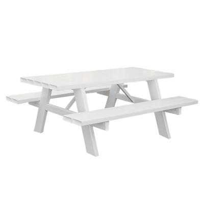 6 ft. Vinyl Outdoor Picnic Table