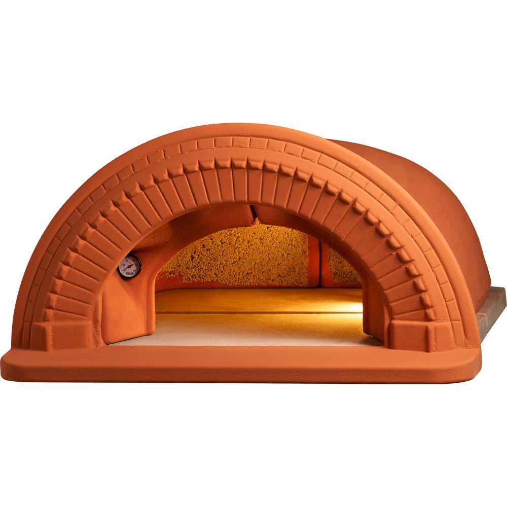 Spazio 90 - 5 Piece 31.5 in. x 31.5 in. Outdoor Wood Burning Pizza Oven Refractory Built-In