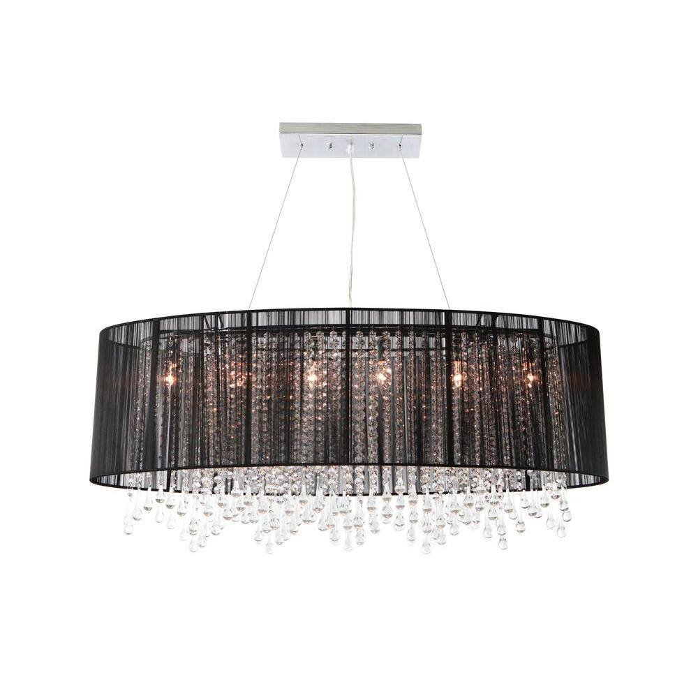 Avenue Lighting 6-Light Chrome Incandescent Ceiling Pendant