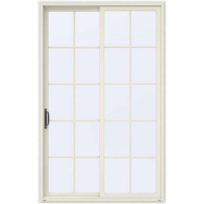 60 in x 96 in v 4500 contemporary vanilla painted vinyl left - Patio Single Door