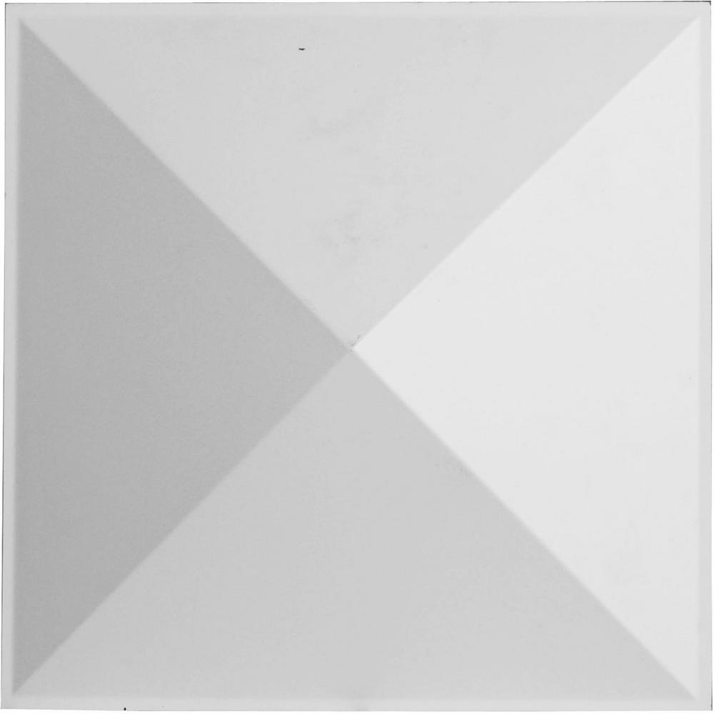 Ekena Millwork 1-7/8 in. x 11-7/8 in. x 11-7/8 in. PVC White Sellek EnduraWall Decorative 3D Wall Panel