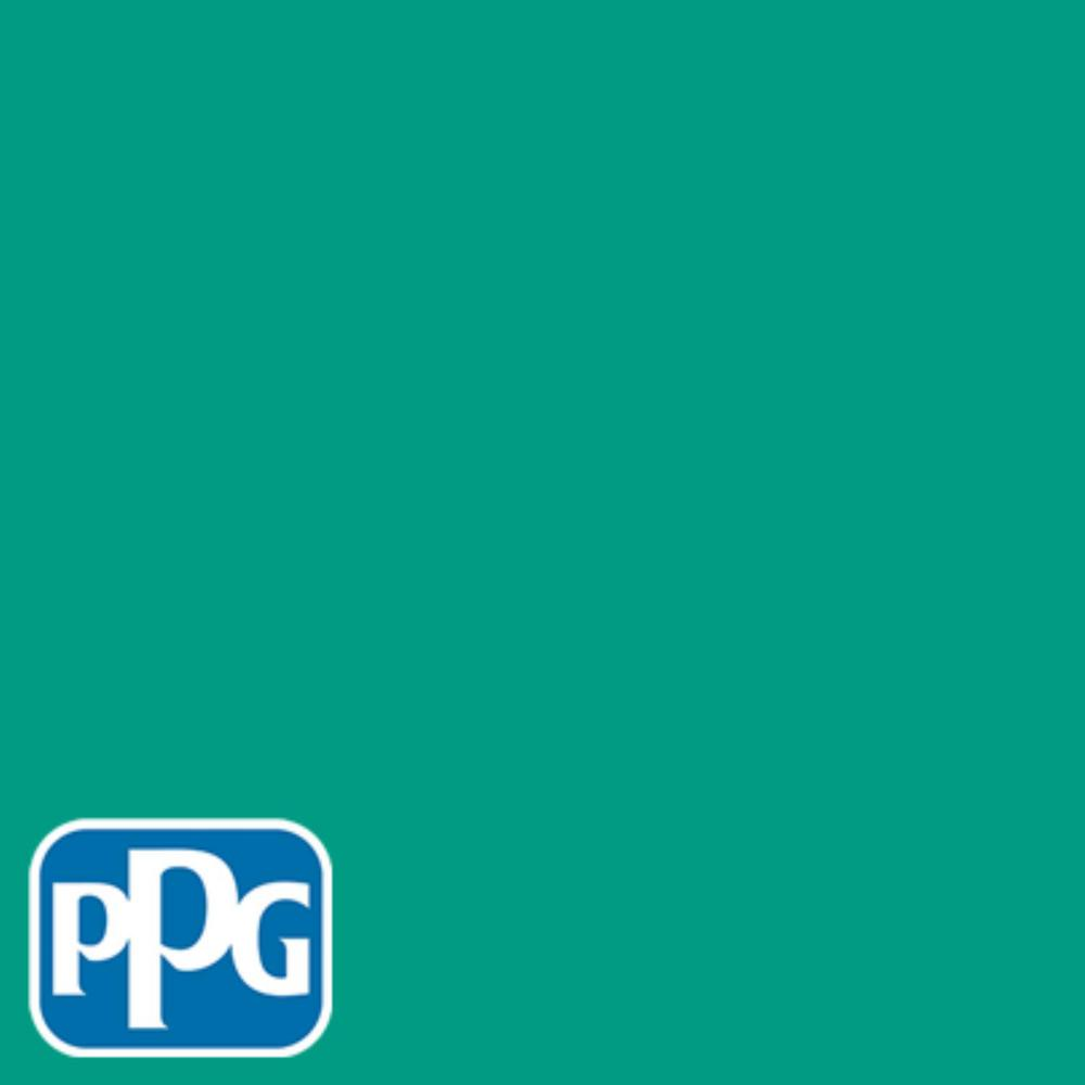 1 gal. #HDPPGB01 Bright Teal Surprise Semi-Gloss Interior One-Coat Paint with