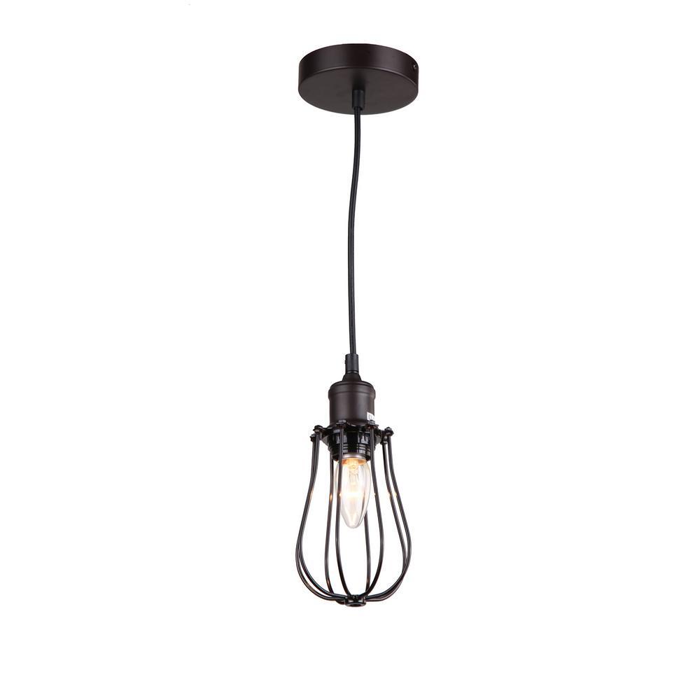 Schoolhouse pendant lights lighting the home depot 1 light ebony bronze pendant arubaitofo Gallery
