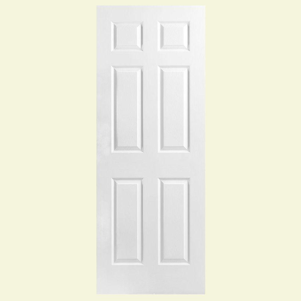 Masonite 24 In. X 78 In. Textured 6-Panel Hollow Core