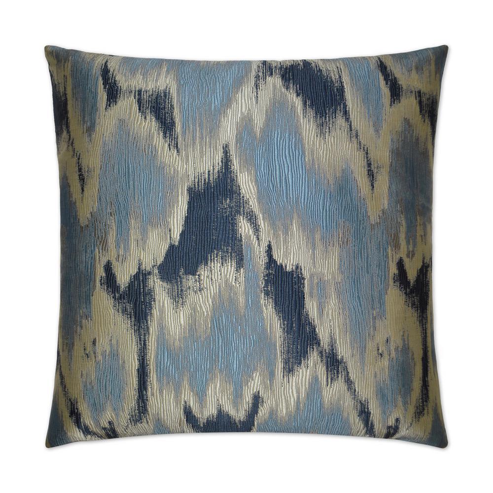 Watermark Blue Down Standard Throw Pillow