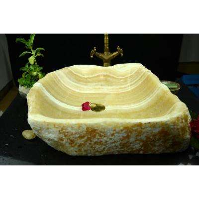 Aurora Vessel Sink in Natural Onyx