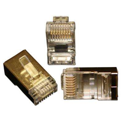 QuikThru RJ45 CAT6 Internal Shielded Connectors (50-Pack)
