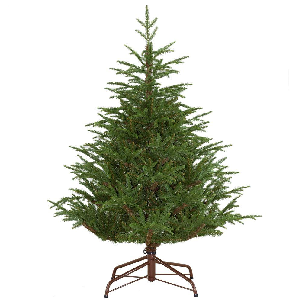 unbranded 4.5 ft. Unlit Feel-Real Fraser Grande Artificial Christmas Tree