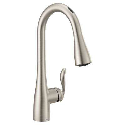 U by Moen Arbor Single-Handle Pull-Down Sprayer Smart Kitchen Faucet with Voice Control in Spot Resist Stainless