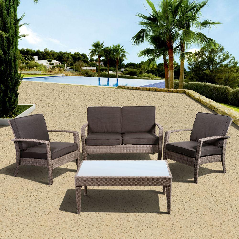 Conversation Patio Sets ~ Atlantic contemporary lifestyle florida deluxe piece all