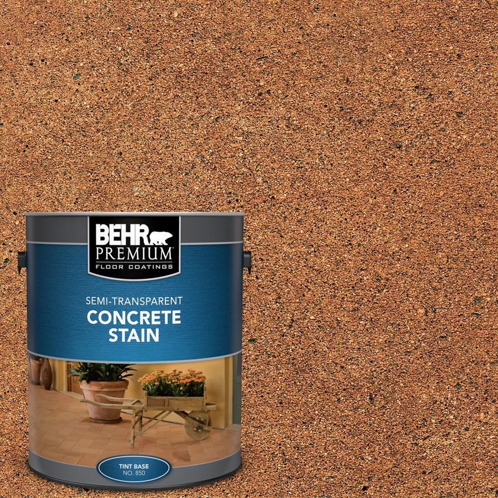 BEHR Premium 1 gal. #STC-21 Warm Shale Semi-Transparent Flat Interior/Exterior Concrete Stain