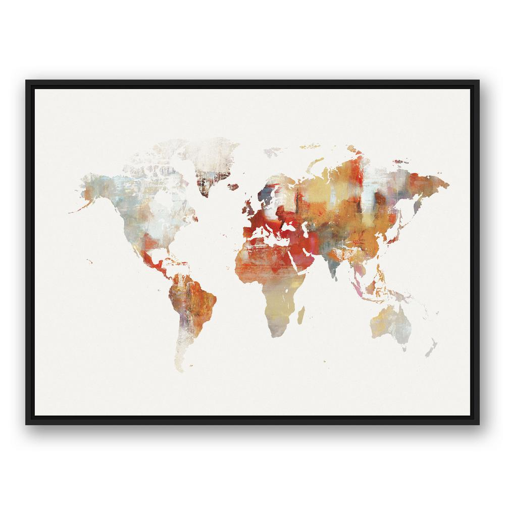 Watercolor world map iv