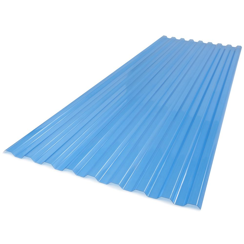 26 in. x 6 ft. Polycarbonate Roof Panel in Sky Blue