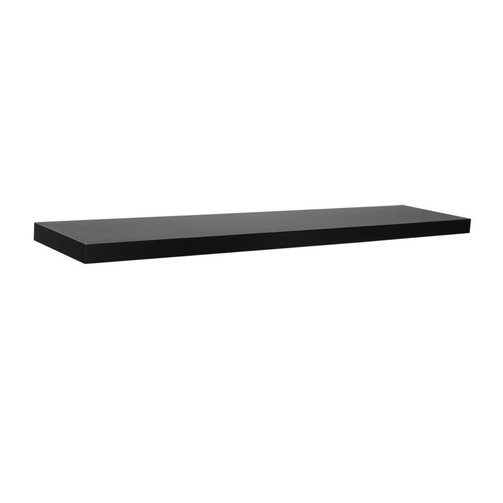 36 in. L x 7.75 in. W Slim Floating Black Shelf