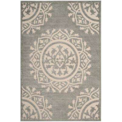 Cottage Gray/Cream 9 ft. x 12 ft. Indoor/Outdoor Area Rug