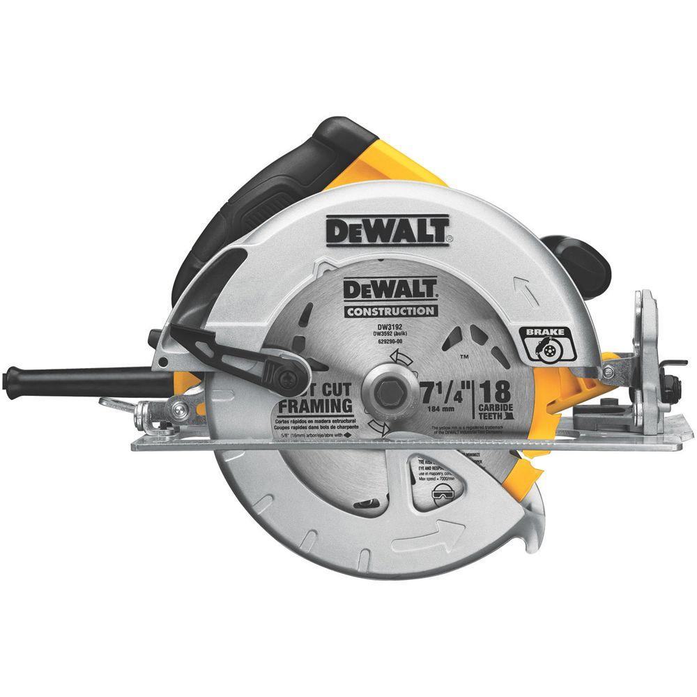 Dewalt 15 Amp 7 14 In Lightweight Circular Saw With Electric Brake