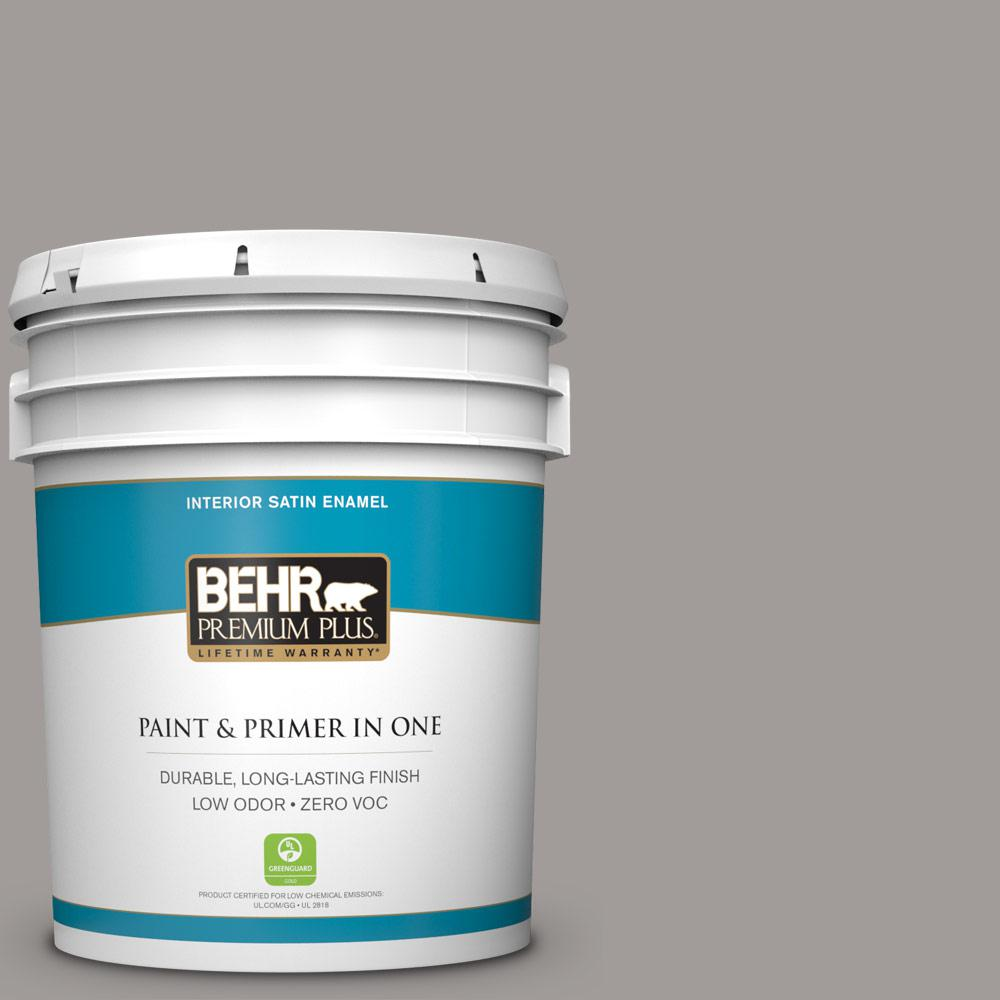5-gal. #BNC-17 Casual Gray Satin Enamel Interior Paint