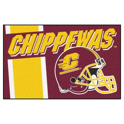 NCAA Central Michigan University 19 in. x 30 in. Uniform Style Starter Door Mat