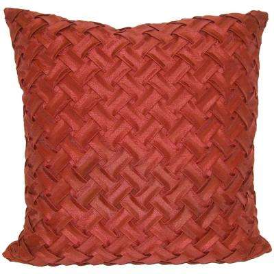 Lattice Red Decorative Pillow