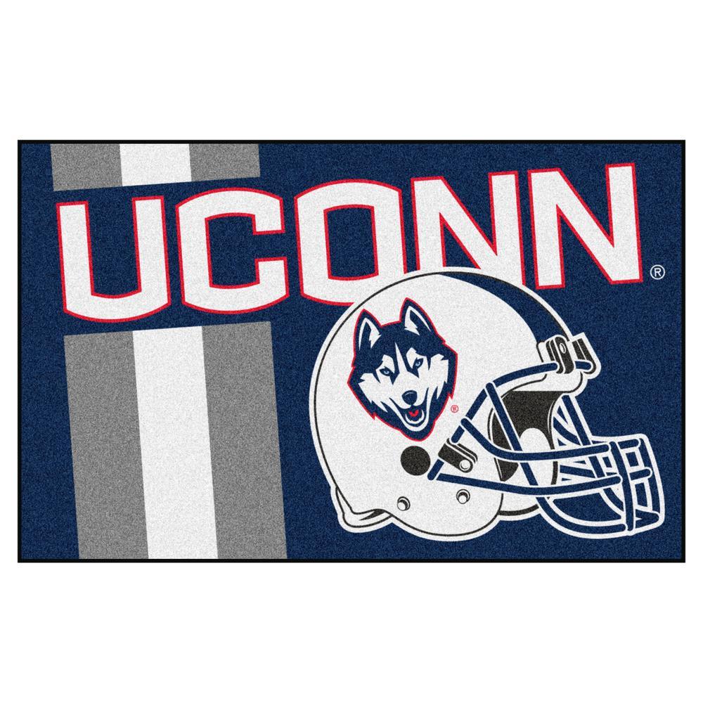 NCAA University of Connecticut 19 in. x 30 in. Uniform Style Starter Door Mat