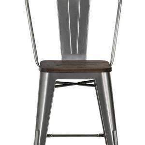 Astounding Dhp Lena 24 In Antique Gun Metal Metal Counter Stool With Gmtry Best Dining Table And Chair Ideas Images Gmtryco