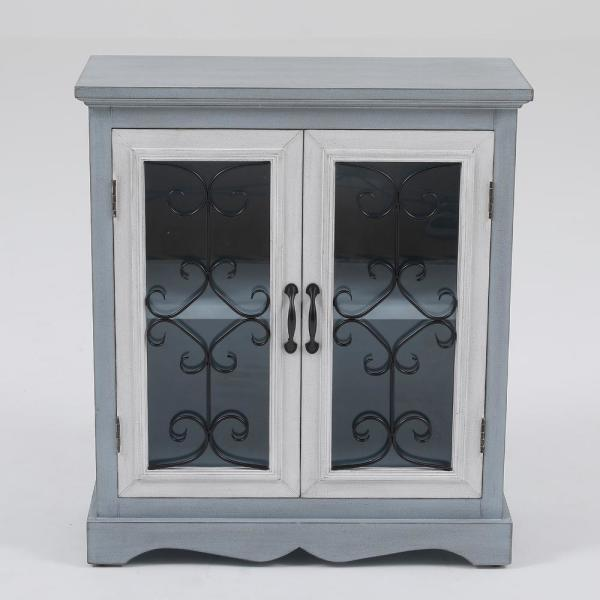 Winsome House Gray Haven Double Door Cabinet