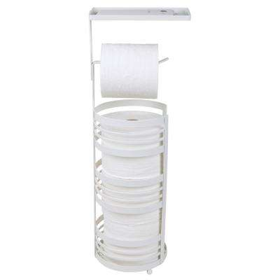 Matte Collection Toilet Paper Reserve and Dispenser in White by Bath Bliss