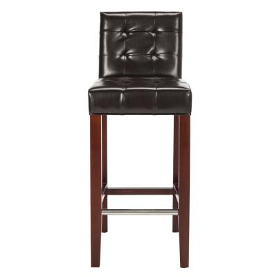 Thompson 30 in. Brown Cushioned Bar Stool