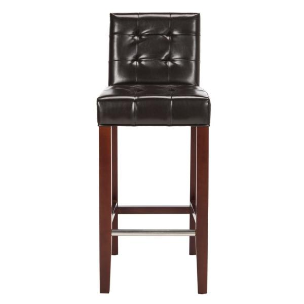 Safavieh Thompson 30 in. Brown Cushioned Bar Stool