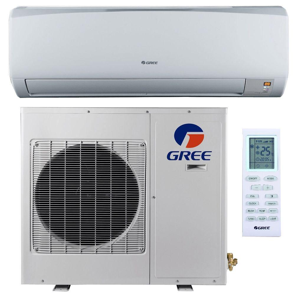 GREE High Efficiency 24,000 BTU (2 Ton) Ductless (Duct Free) Mini Split Air Conditioner with Inverter, Heat, Remote 208-230V