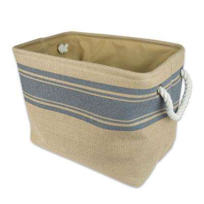 Rectangle Burlap Bordered Decorative Bin