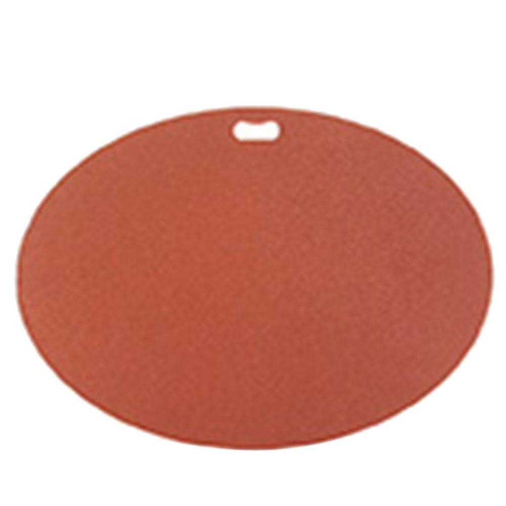 The Original Grill Pad 42 In X 30 In Oval Brick Red Deck