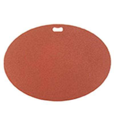 42 in. x 30 in. Oval Brick Red Deck Protector