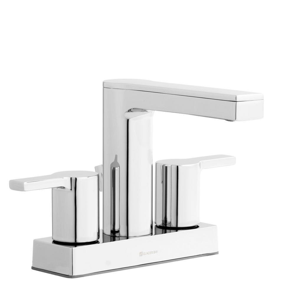 GLACIER BAY Chrome Straight Nozzle Metal Soap Dispenser Bathroom Model 36644