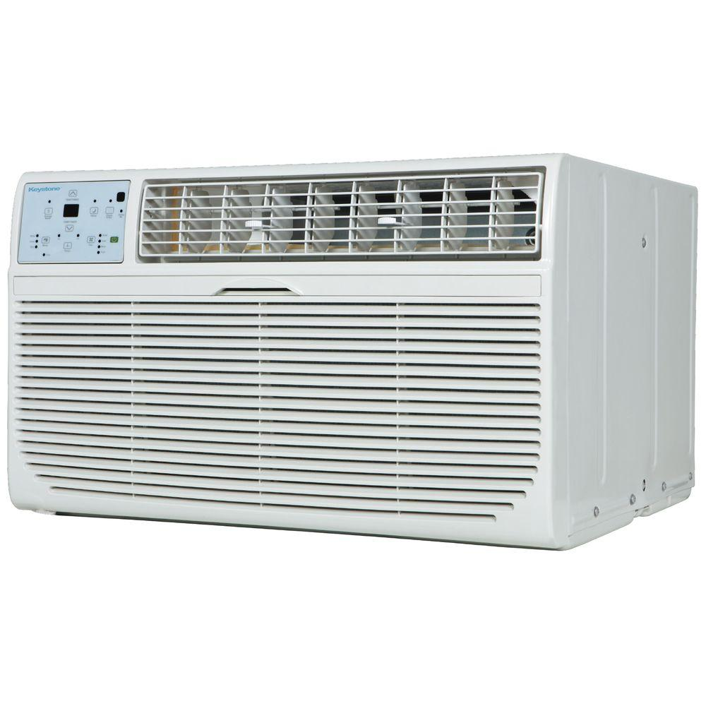 Keystone 12,000 BTU 115-Volt Through-the-Wall Air Conditioner with Follow Me LCD Remote Control
