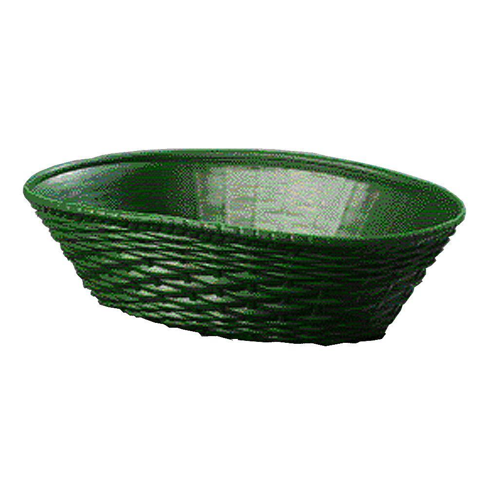 Carlisle 9.06 in. x 6.25 in. Polypropylene Oval Serving Basket in Green (Case of 12)