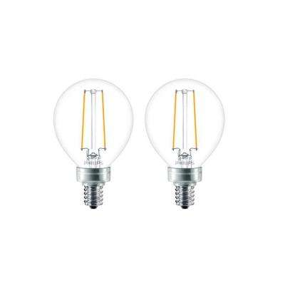 25-Watt Equivalent G16.5 Globe LED Light Bulb (2-Pack)