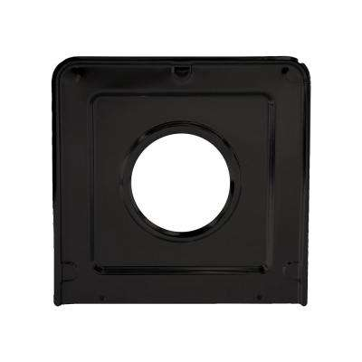 9.125 x 9.3125 in. Drip Pan in Porcelain/Black