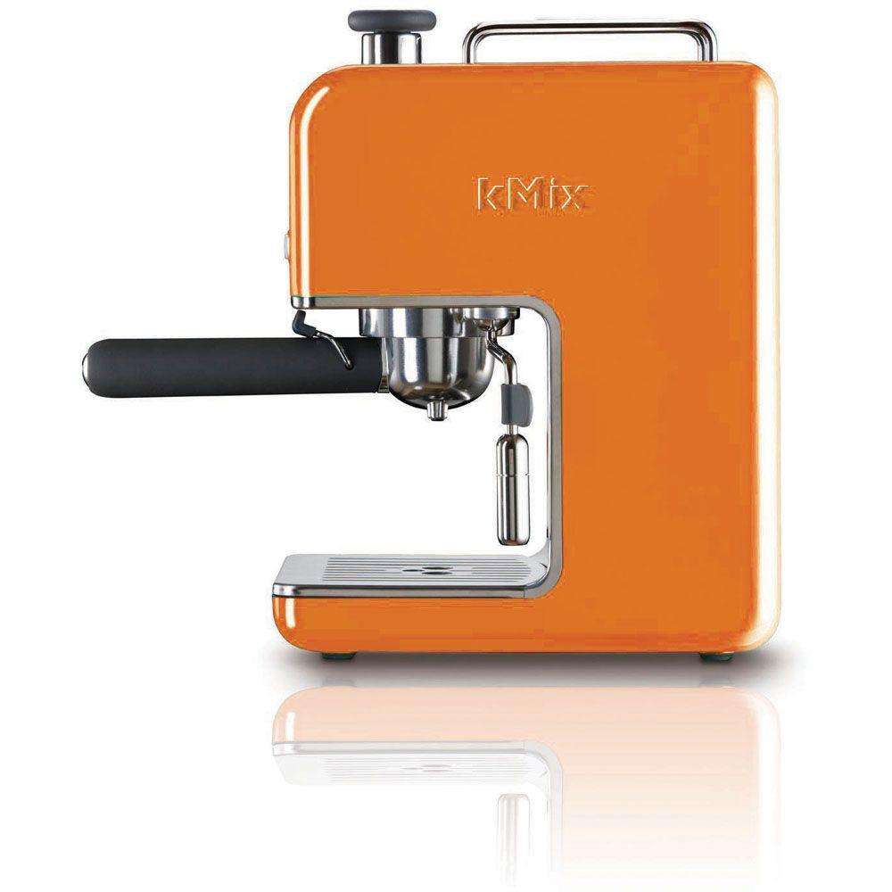 DeLonghi kMix 15 Bar Pump Espresso Maker in Orange