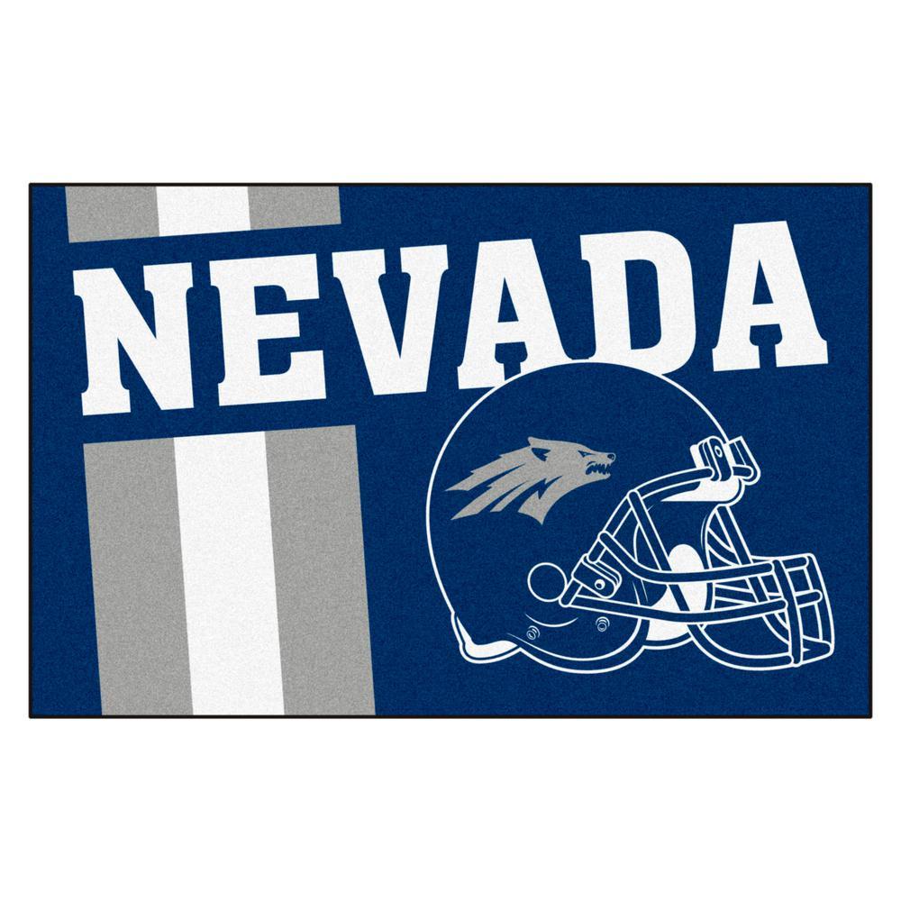 NCAA University of Nevada 19 in. x 30 in. Uniform Style Starter Door Mat