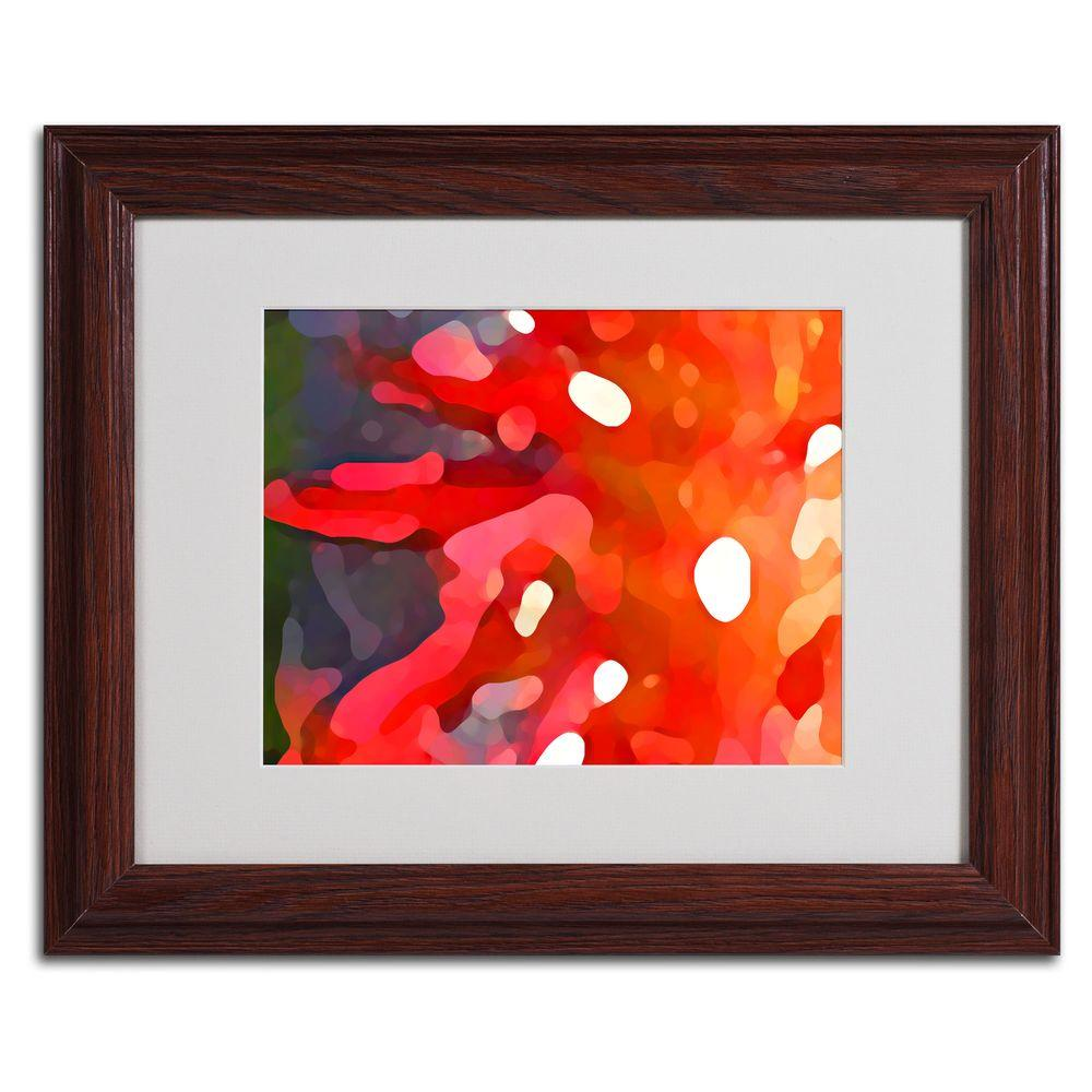 Trademark Fine Art 11 in. x 14 in. Red Sun Matted Framed Art