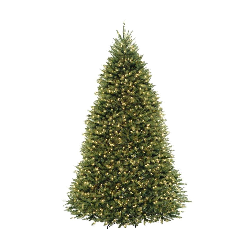 dunhill fir artificial christmas tree with 1200 clear lights - Real Christmas Tree Decorated
