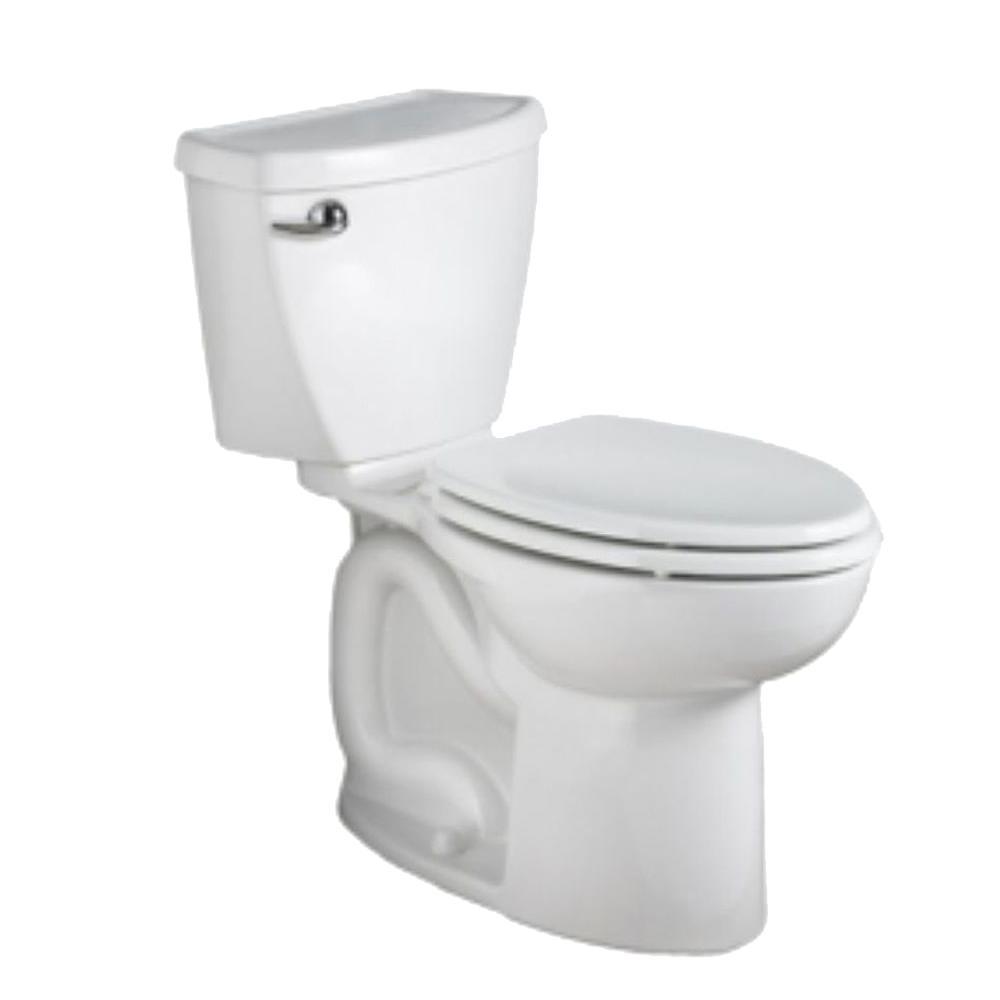 Cadet 3 Powerwash 10 in. Rough-In 2-Piece 1.28 GPF Single Flush High-Efficiency Elongated Toilet in White