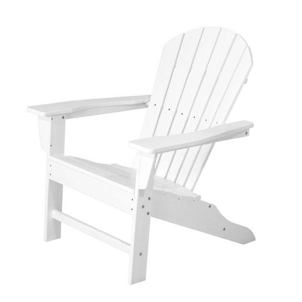 polywood south beach white plastic patio adirondack chair sba15wh the home depot. Black Bedroom Furniture Sets. Home Design Ideas