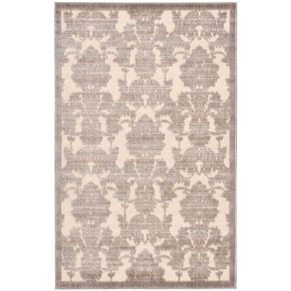 Nourison Graphic Illusions Ivory/Latte 3 ft. 6 in. x 5 ft. 6 in. Area Rug