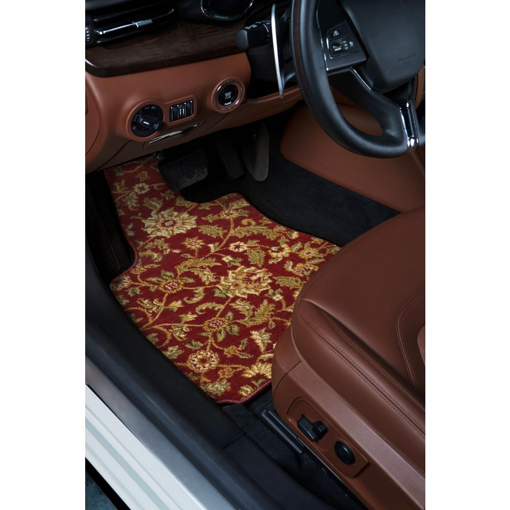 All Weather Floor Mat for 2016-2018 Ford Explorer Full Protection Car Accessories Black /& Red 3 Piece Set