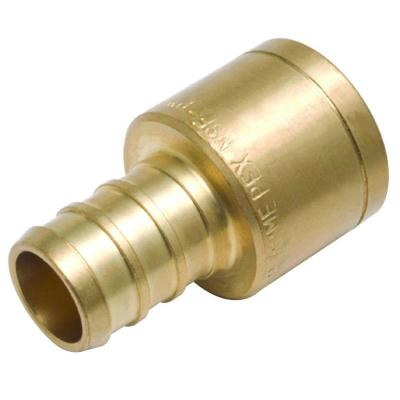 1/2 in. PEX Barb x Female Copper Sweat Brass Adapter Fitting (10-Pack)
