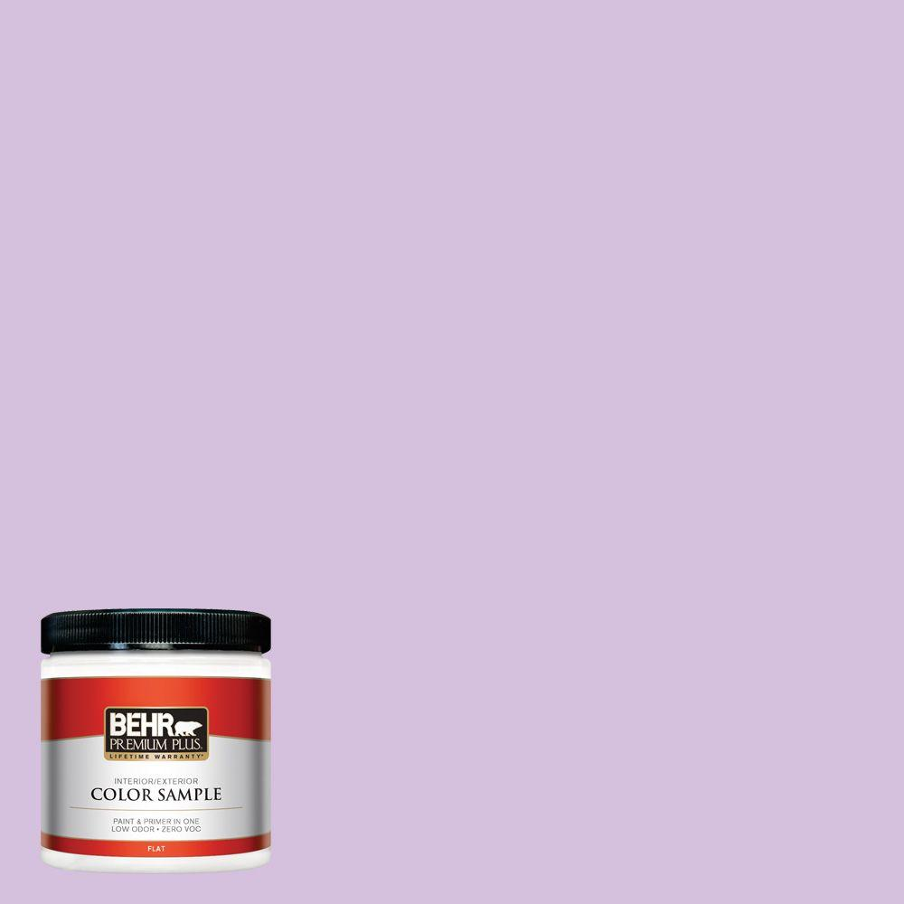 BEHR Premium Plus 8 oz. #660A-3 New Violet Interior/Exterior Paint Sample